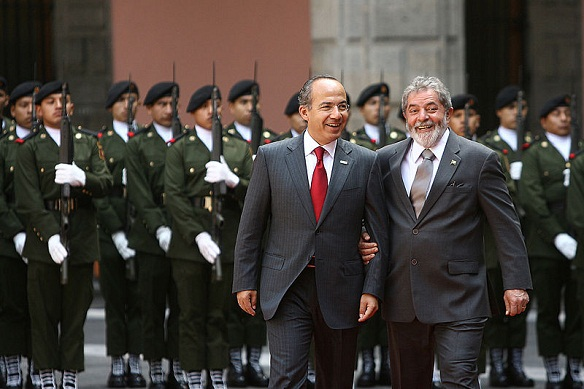 felipe calderon president mexico war drugs