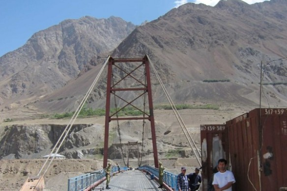 The Vanj Bridge, fourth in a series of bridges funded by the Aga Khan Foundation, will aid in the delivery of humanitarian services.