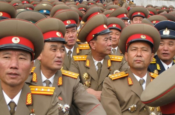 North Korean military officers. Some rights reserved by NOS Nieuws.