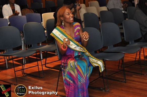 Nkem Ejoh at a fundraiser for the Ghana school project.