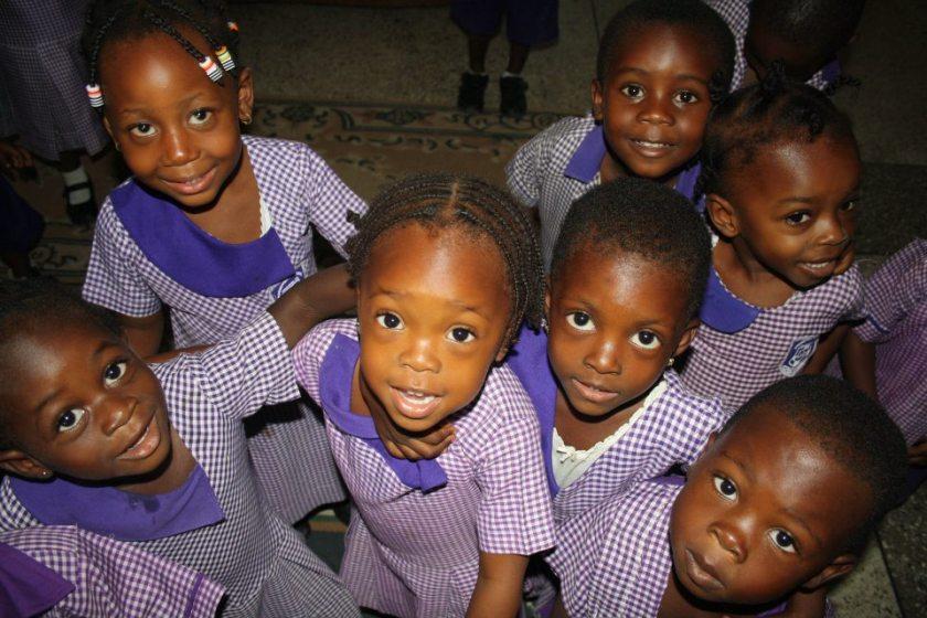 Schoolchildren in Ghana.
