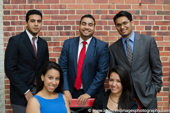 Clockwise, from left: Fellows Muhammad Saleh, Muhammed Alam,  Tahsin Chowdhury, Andrea Leon, Stephanie Guzman