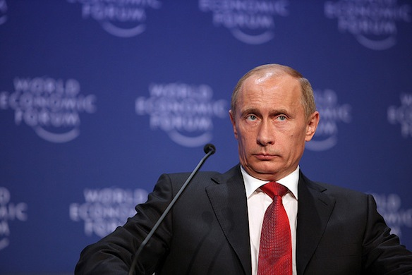 Putin at the World Economic Forum. Courtesy World Economic Forum, Creative Commons license.